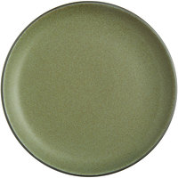 Acopa Embers 10 3/4 inch Moss Green Matte Coupe Stoneware Plate - 12/Case