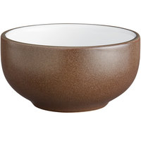 Acopa Embers 13 oz. Hickory Brown Matte Stoneware Bowl - 24/Case