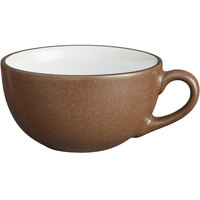 Acopa Embers 12 oz. Hickory Brown Matte Stoneware Cup - 24/Case