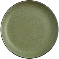 Acopa Embers 9 1/2 inch Moss Green Matte Coupe Stoneware Plate - 12/Case