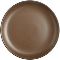 Acopa Embers 10 3/4 inch Hickory Brown Matte Coupe Stoneware Plate   - 12/Case