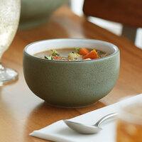 Acopa Embers 18 oz. Moss Green Matte Stoneware Bowl - 12/Case