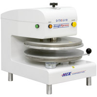 DoughXpress D-TXE-2-18-WH Dual Heat Round Electromechanical Tortilla Press 18 inch - White, 220V