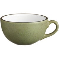 Acopa Embers 12 oz. Moss Green Matte Stoneware Cup - 24/Case