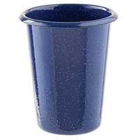 Tablecraft 10157 Enamelware 16.9 oz. Blue Tumbler with Speckles