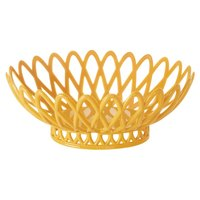 GET OB-940-TY Tropical Yellow Oval 10 inch x 8 1/4 inch Plastic Fast Food Basket 12 / Pack