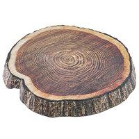 Tablecraft 10255 Lindenwood 13 inch Round Melamine Platter with Wood Design