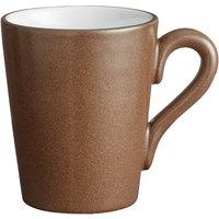 Acopa Embers 12 oz. Hickory Brown Matte Stoneware Mug - 24/Case
