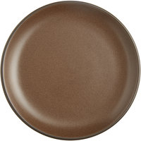 Acopa Embers 7 1/2 inch Hickory Brown Matte Coupe Stoneware Plate - 24/Case