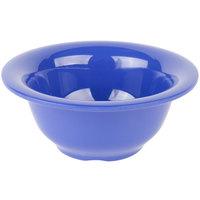 Carlisle 4303814 Durus 10 oz. Ocean Blue Rimmed Melamine Nappie Bowl - 24/Case