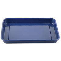 Tablecraft 10161 Enamelware 16 inch x 11 1/2 inch Blue Tray with Speckles