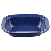 Tablecraft 10159 Enamelware 9 1/4 inch x 7 inch Blue Pan with Speckles