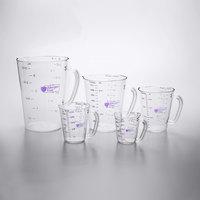 Carlisle 5-Piece Purple Allergen Free Polycarbonate Measuring Cup Set