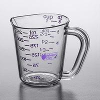 Carlisle 43141AF07 1 Cup Purple Allergen Free Polycarbonate Measuring Cup