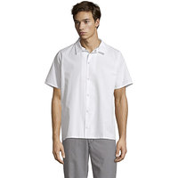 Uncommon Threads 0954 White Customizable No Pocket Cook Shirt - 6XL