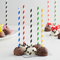 EcoChoice Assorted Stripe Paper Cake Pop Stick 7 3/4 inch - 2400/Pack