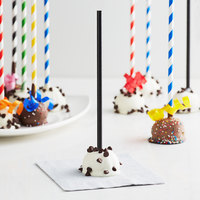 EcoChoice Black Paper Cake Pop Stick 7 3/4 inch - 2400/Pack