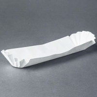 Hoffmaster 610735 10 inch White Paper Fluted Hot Dog Tray - 3000/Case