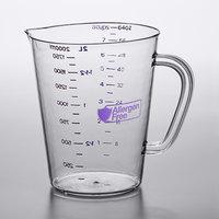 Carlisle 43144AF07 2 Qt. (8 Cups) Purple Allergen Free Polycarbonate Measuring Cup