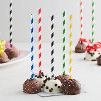 EcoChoice Assorted Stripe Paper Cake Pop Stick 7 3/4 inch   - 4800/Case