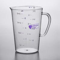 Carlisle 43145AF07 4 Qt. (16 Cups) Purple Allergen Free Polycarbonate Measuring Cup