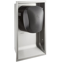 Lavex Janitorial Black High Speed Automatic Hand Dryer with HEPA Filtration and Recess Kit