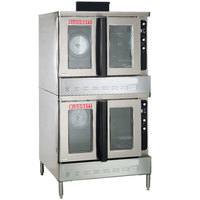 Blodgett DFG-200 Premium Series Natural Gas Double Deck Full Size Bakery Depth Convection Oven with Draft Diverter - 120,000 BTU