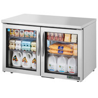 True TUC-48G-LP-HC~FGD01 48 inch Low Profile Undercounter Refrigerator with Glass Doors