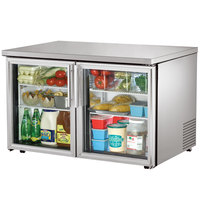 True TUC-48G-LP-HC-LD 48 inch Low Profile Undercounter Refrigerator with Glass Doors