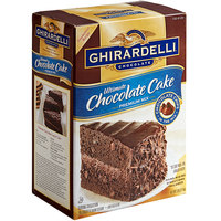 Ghirardelli 7 lb. Ultimate Chocolate Cake Mix   - 4/Case