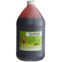 I. Rice 1 Gallon Strawberry Milkshake Base Syrup - 4/Case