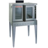 Blodgett DFG-100 Premium Series Natural Gas Single Deck Full Size Convection Oven with Draft Diverter - 55,000 BTU