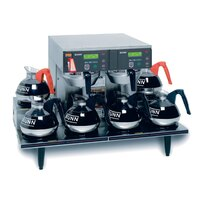 Bunn Axiom 0/6 Twin 12 Cup Automatic Coffee Brewer with 6 Lower Warmers - 120/208-240V (Bunn 38700.0015)