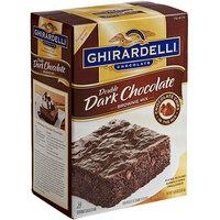 Ghirardelli 7.5 lb. Double Dark Chocolate Brownie Mix   - 4/Case