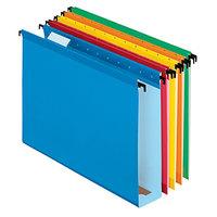 Pendaflex 6152X2 ASST SureHook Assorted Color Letter Size 1/5 Cut Extra Capacity Reinforced Hanging Folder - 20/Box