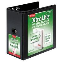 Cardinal 26361 XtraLife ClearVue Black 6 inch Locking Slant-D Ring Binder