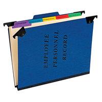 Pendaflex SER-2-BL Blue Letter Size 1/5 Cut Hanging Employee / Personnel Folder