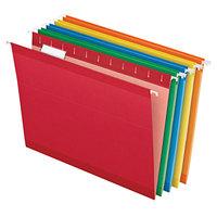 Pendaflex 04152 1/5 ASST Assorted Color Letter Size 1/5 Cut Reinforced Hanging Folder - 25/Box