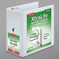 Cardinal 26360 XtraLife ClearVue White 6 inch Locking Slant-D Ring Binder