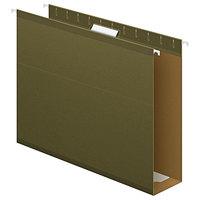 Pendaflex 04152X3 Standard Green Letter Size 1/5 Cut Extra Capacity Reinforced Hanging Folder - 25/Box