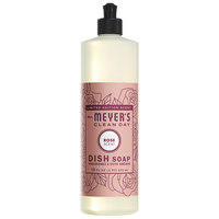 Mrs. Meyer's Clean Day 316558 16 oz. Rose Scented Dish Soap - 6/Case