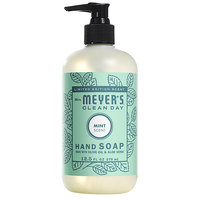 Mrs. Meyer's Clean Day 694976 12.5 oz. Mint Scented Hand Soap with Pump - 6/Case