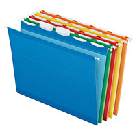 Pendaflex 42592 Ready Tab Assorted Color Letter Size 5-Tab Reinforced Hanging Folder - 25/Box