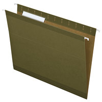 Pendaflex 4152 1/3 Standard Green Letter Size 1/3 Cut Reinforced Hanging Folder - 25/Box