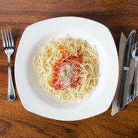 CAC REC-88 Festiware 22 oz. Ivory (American White) Square China Pasta Bowl - 12/Case