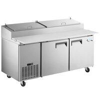 Avantco APPT-91-HC 91 inch 3 Door Refrigerated Pizza Prep Table