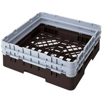 Cambro BR578167 Brown Camrack Customizable Full Size Open Base Rack with 2 Extenders