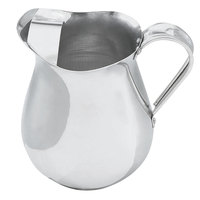 Vollrath 68174 68 oz. Satin Finish Aluminum Water Pitcher with Ice Guard
