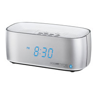 Conair Hospitality WCL75S Silver Bluetooth Digital Alarm Clock with Dual USB Charging Ports and Single Day Alarm