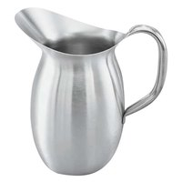 Vollrath 82040 132 oz. Satin Finish Stainless Steel Bell Pitcher